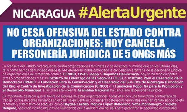 Siguen los ataques a los derechos humanos en Nicaragua
