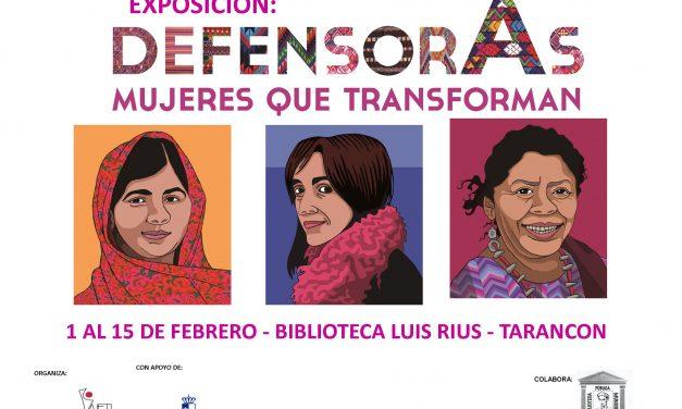 """Del 1 al 15 de febrero Biblioteca Luis Rius """"Defensoras, mujeres que transforman"""""""