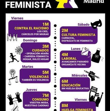 Día 8 de marzo: #HuelgaFeminista. Tenemos mas de #1000Motivos para la Huelga Feminista