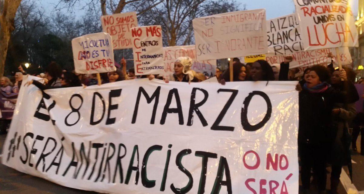 ESTE 8M LAS MUJERES MIGRADAS DENUNCIAMOS LA VIOLENCIA DE GÉNERO Y LA VIOLENCIA RACISTA INSTITUCIONAL