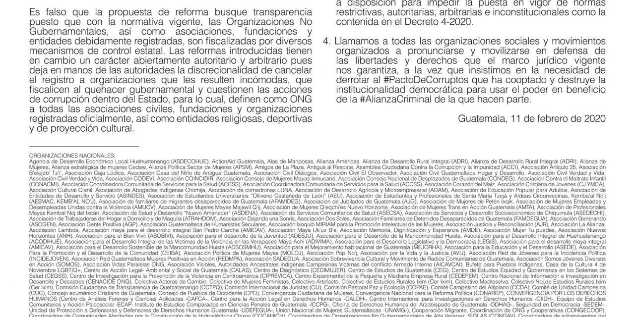 siguen los ataques a los derechos humanos en guatemala. #NoALa5257
