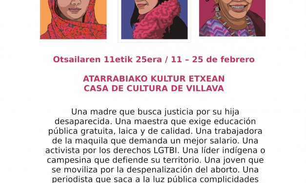 """EXposición """"defensoras, mujeres que trasforman"""""""