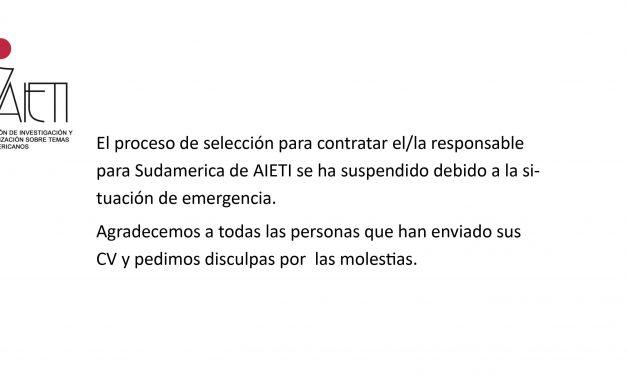 Suspendido proceso de selección responsable Sudamérica