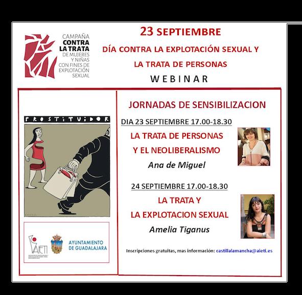JORNADAS DE SENSIBILIZACIÓN 23 Y 24 DE  SEPTIEMBRE.CONTRA LA TRATA DE PERSONAS Y EXPLOTACIÓN SEXUAL