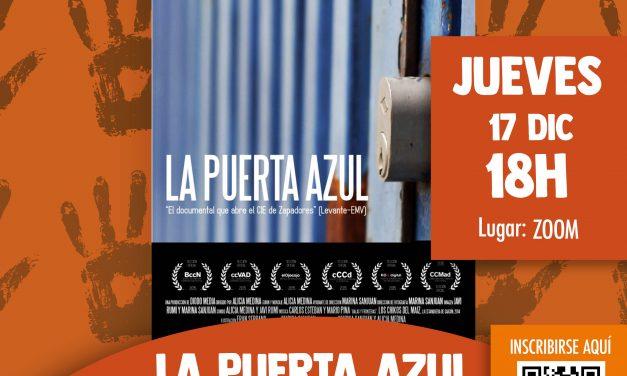 """#17Diciembre. Proyección """"la puerta azul"""". CiE y derechos de las personas migrantes"""