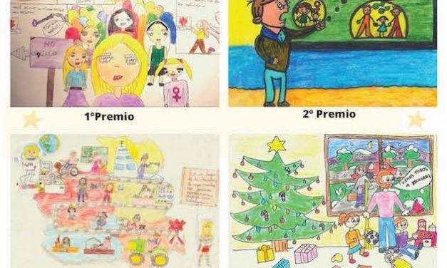 Ganadoras del concurso de dibujos infantiles 'Pintando igualdad'