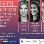 jueves 29 de abril a las 11.00 debate político