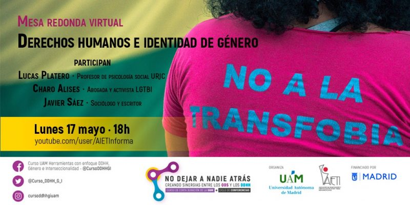 15 de mayo. Mesa redonda: derechos humanos e identidad de género.